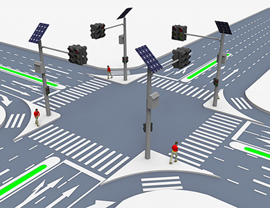 Solar power traffic solution