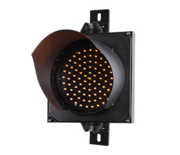 led traffic signal with yellow color